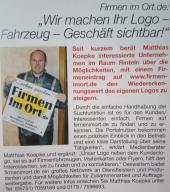 Werbung Zeitung in Rinteln